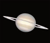 The large ringed plant Saturn photographed by Hubble