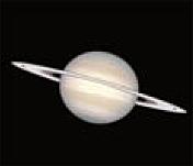 El gran planeta anillado Saturno fotografiado por el Hubble.