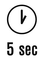 3. Fünf Sekunden warten