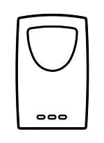 4. Batterien in Außensensor legen