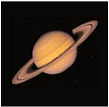 Saturn, photographed out of the space probe Vojager 2/ NASA