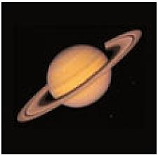 Abb. 23: Saturn, fotografiert von der Raumsonde Vojager 2/NASA