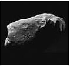 Abb. 27: Der von der NASA Raumsonde Galileo aufgenommene Asteroid Ida.