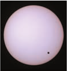 Rare event: The Venus passes by the Sun. This moment was captured by J. Ide????