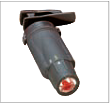 Fig. 39: Una lámpara roja de LED con aro