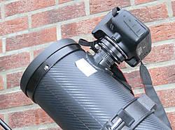 Bresser teleskop pluto eq mit smartphone kamera adapter