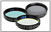 Abb. 69: Bei Mond- und Planeten- beobachtung werden die verschie- densten Filter eingesetzt.