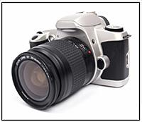Abb. 73: Eine digitale Spiegel- reflexkamera.