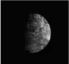 Abb. 17 Merkur, fotografiert von der US-Raumsonde Mariner 10/NASA