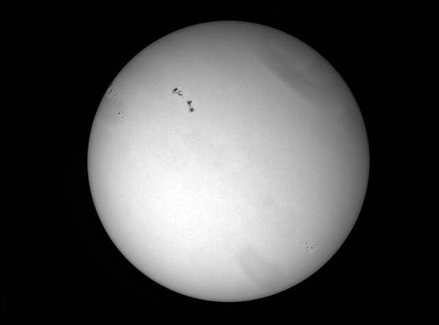 Sun with sunspots (ASI120MC)