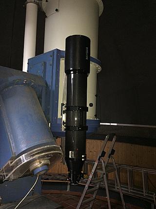 """Der Explore Scientific ED APO 165 mm APO FPL-53 CF 3.0"""" FT fertig montiert in der Sternwarte Osnabrück"""
