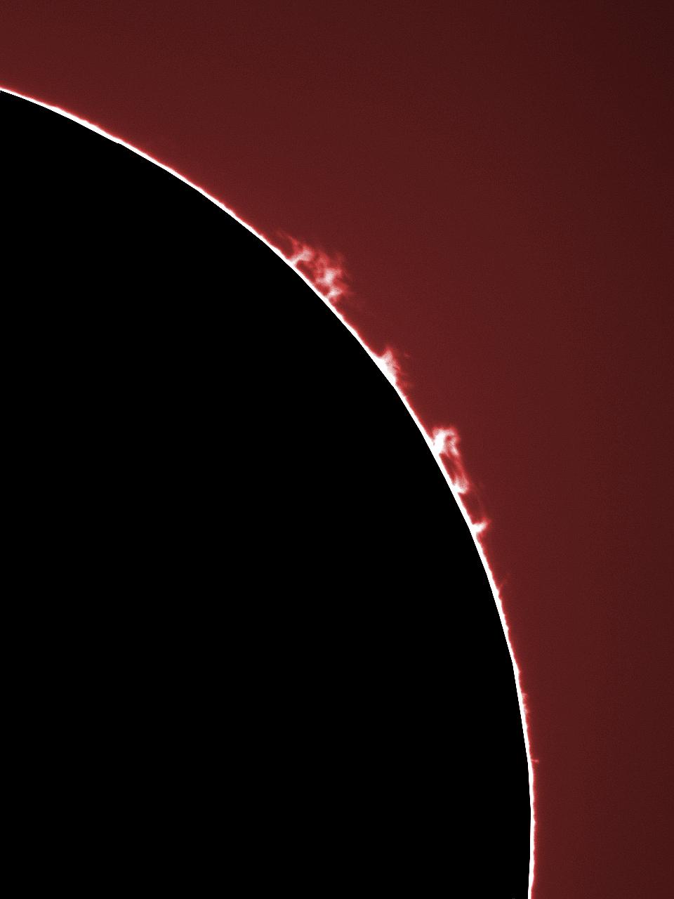 Sonneaufnahme mit Lunt-Sonnenteleskop