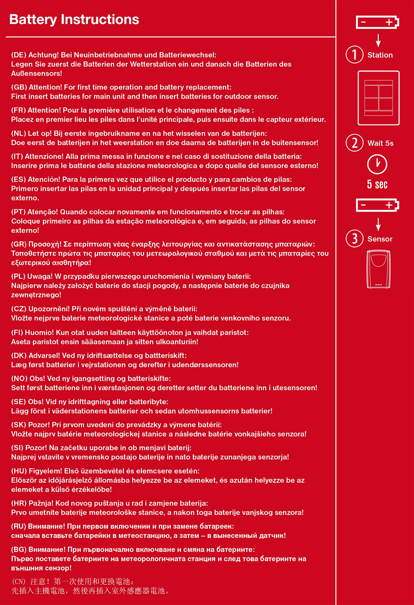 Batterie Anweisungen