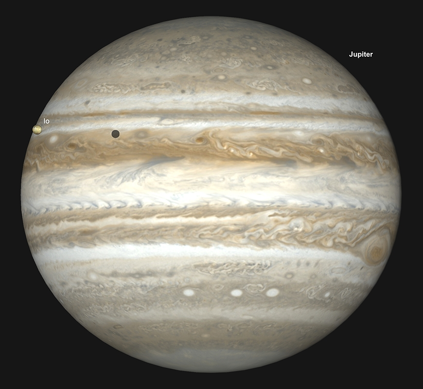 Jupiter, 15. April um 05Uhr21 MESZ