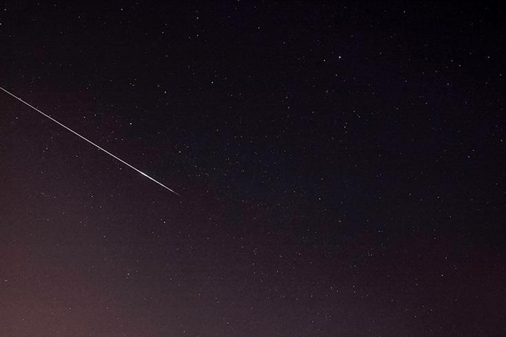 Perseiden-Meteor über Südwest-London