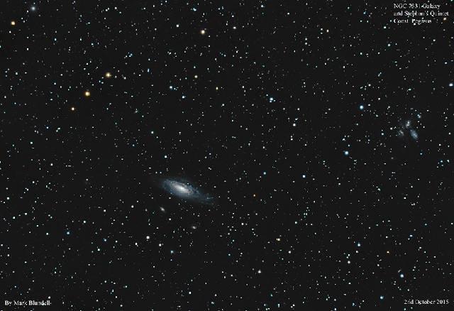 NGC7331 Gruppe und Stephan's Quintett.