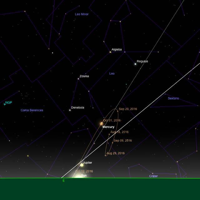 Mercury bei Sonnenaufgang
