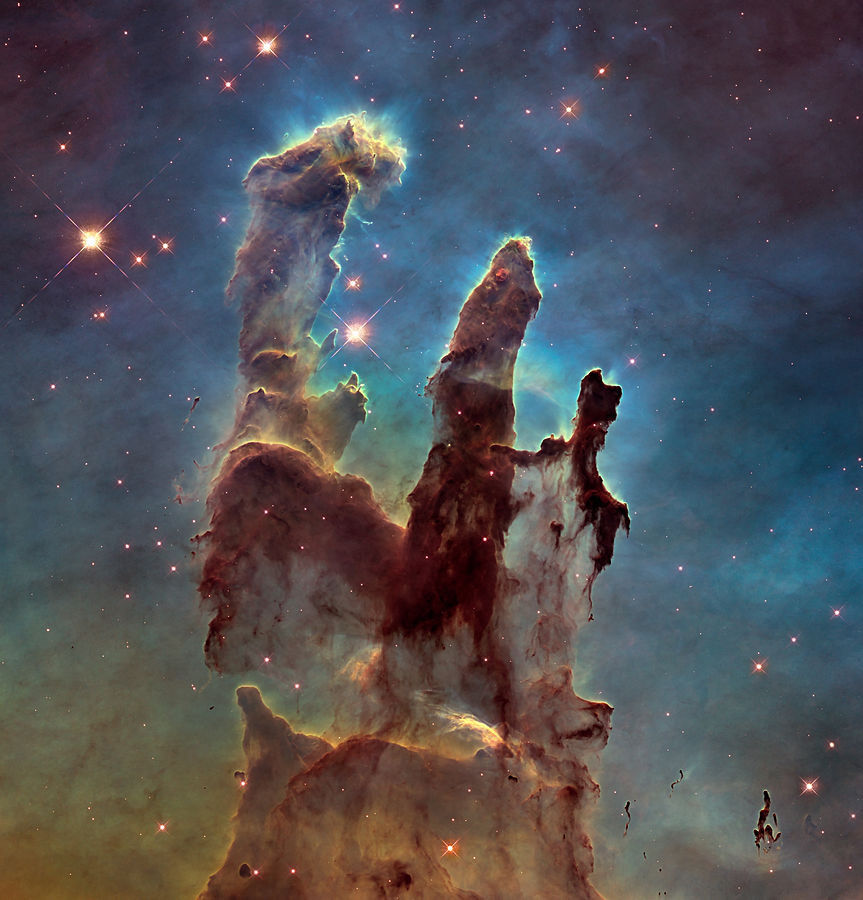 """Pillars of Creation"" of the interior of the Eagle Nebula"