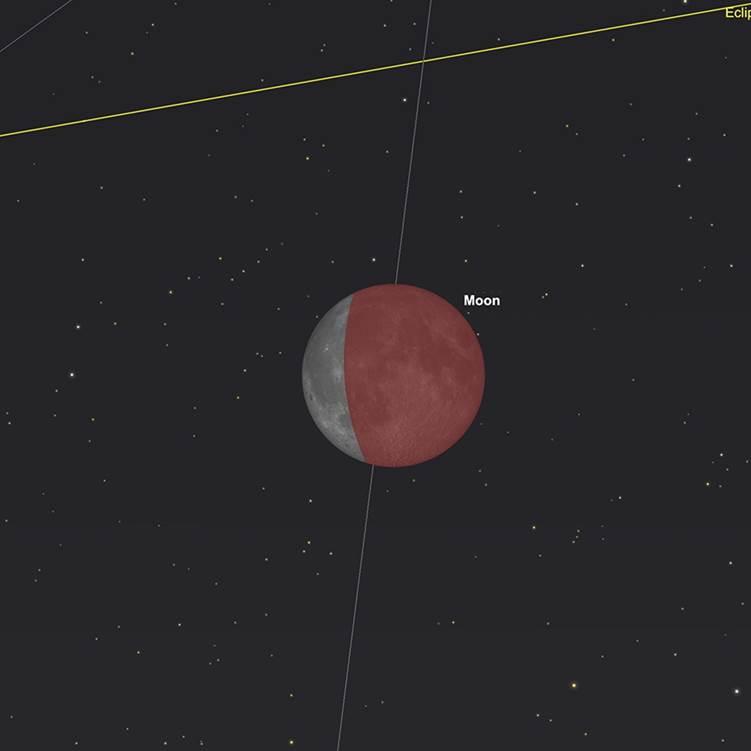 Mond in der Kernschattenphase der Finsternis
