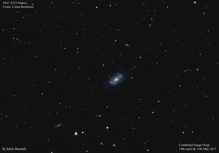 NGC4725 und umgebende Galaxien