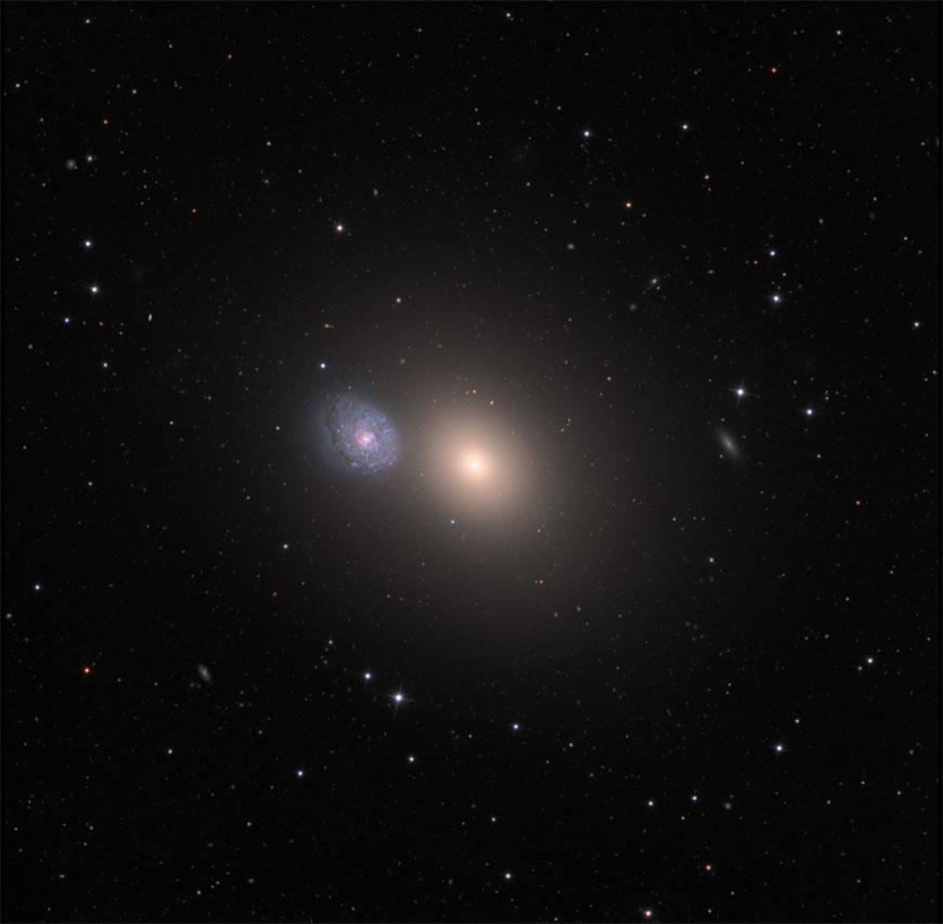 M60 und Begleiter, NGC 4647