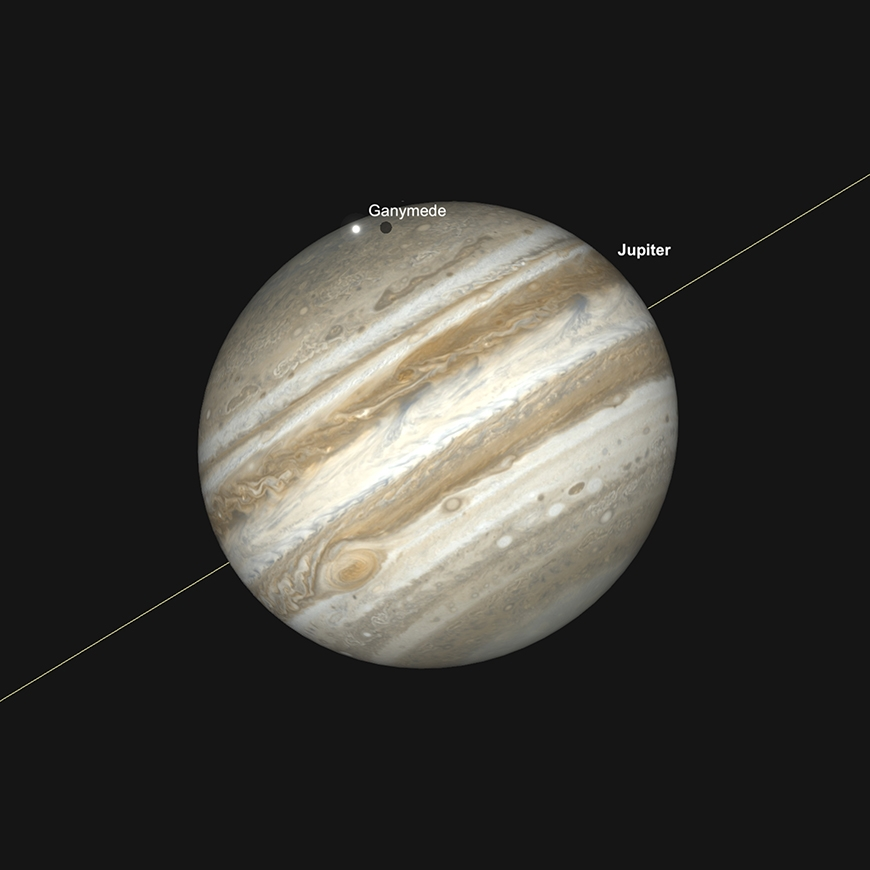 Jupiter, Great Red Spot and Ganymede transit, May 6th