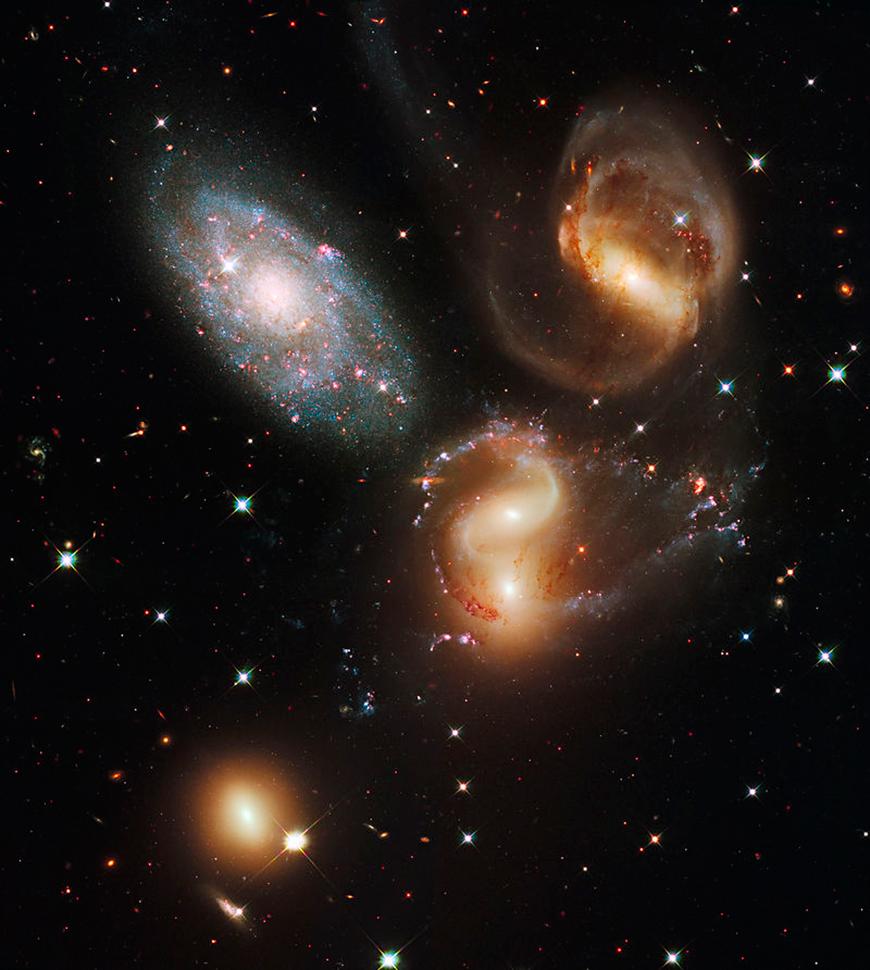 Das Innere von Stephans Quintett