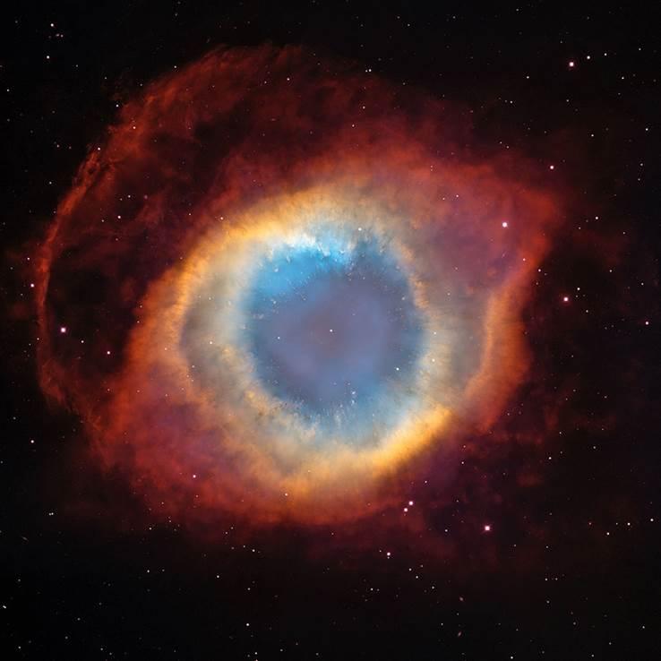 Der Helix-Nebel - HST image. Public Domain.