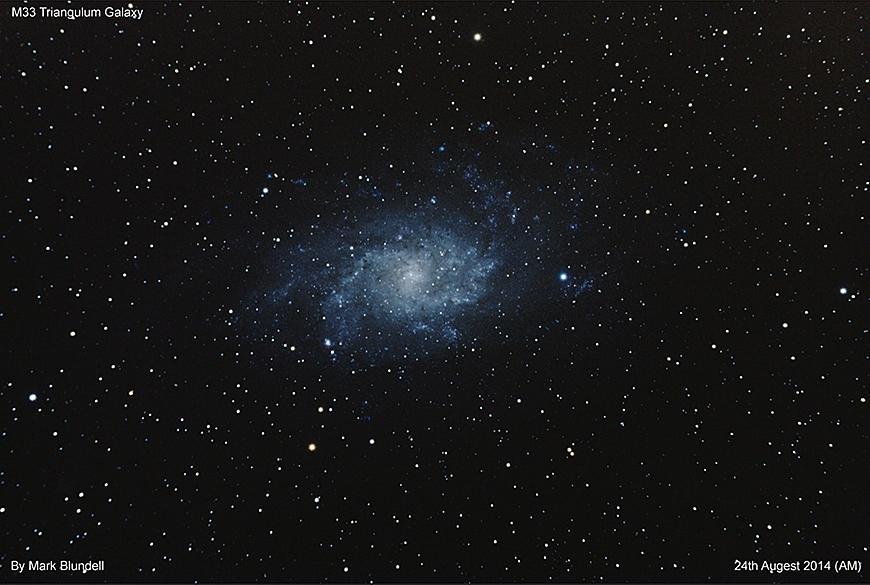 M33 by Mark Blundell. Mit freundlicher Genehmigung.
