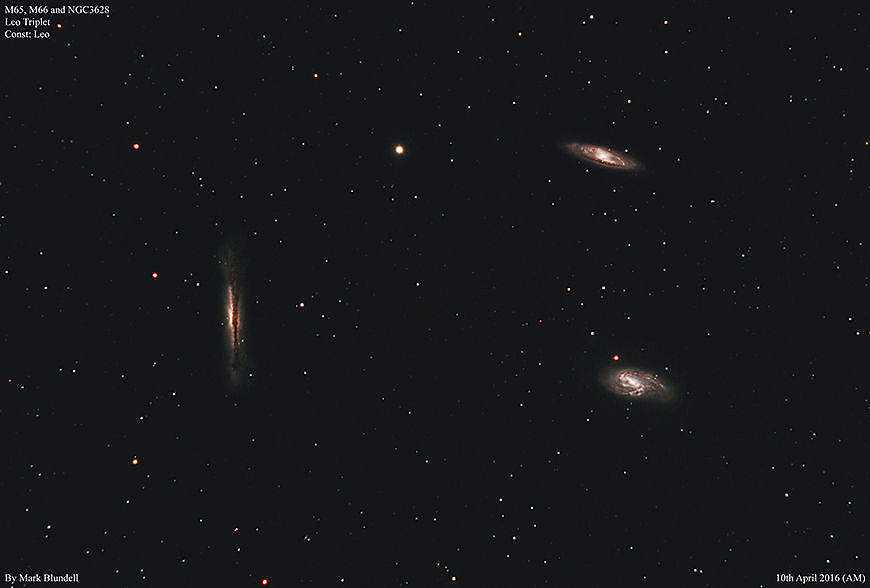 The M65, M66 und NGC3628 Triplet.