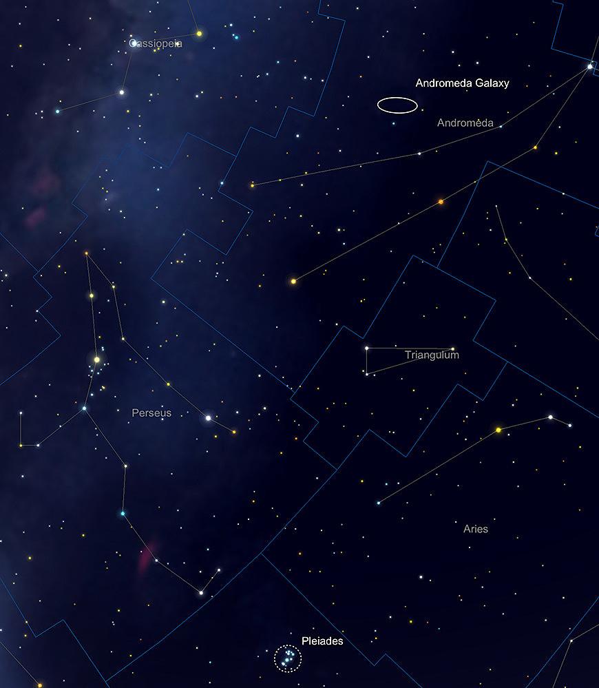 Perseus, Andromeda und Triangulum