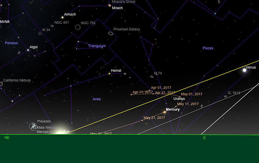 Merkur bei Sonnenaufgang