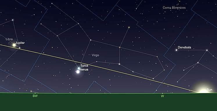 Venus, Sonnenuntrgangt, 1.September.