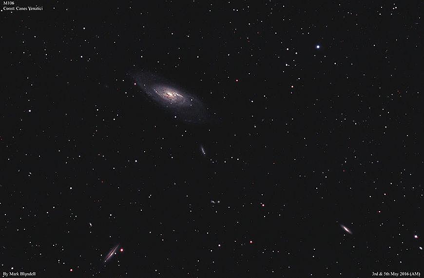 M106 und Begleitgalaxien