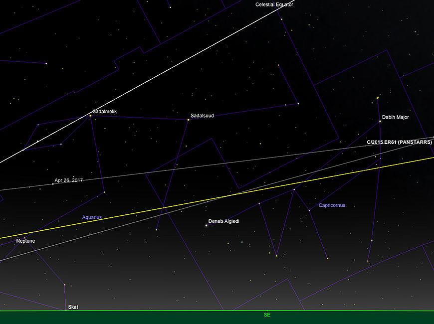 Comet ER61 PanSTARRS Pfad