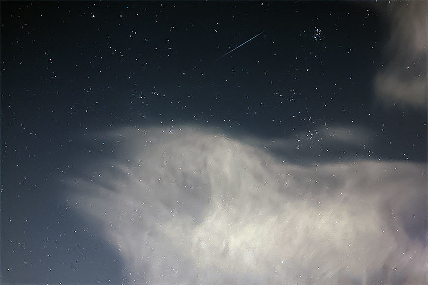 Ein Geminiden Meteor