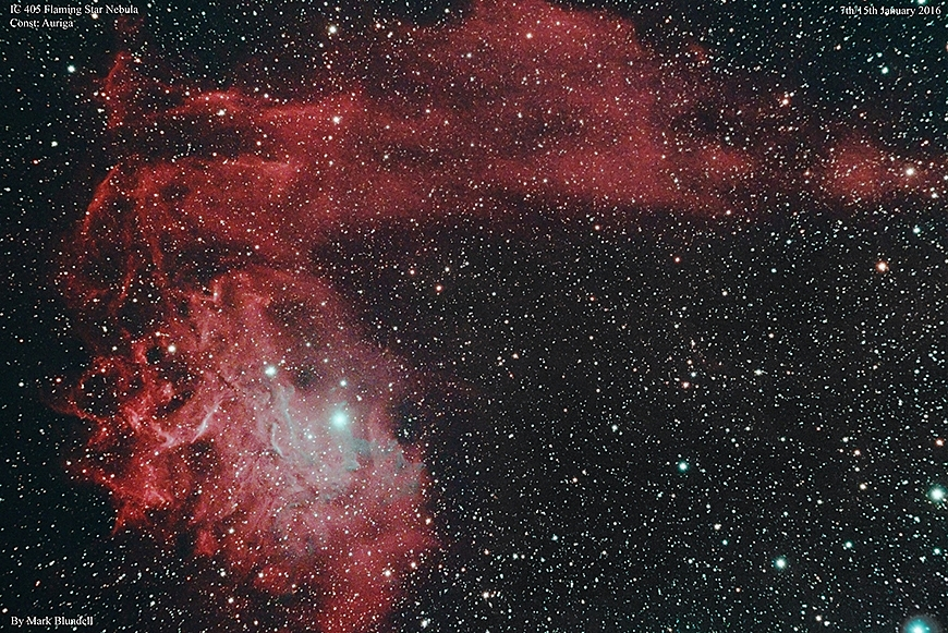 IC405, Flammender Stern -Nebel.