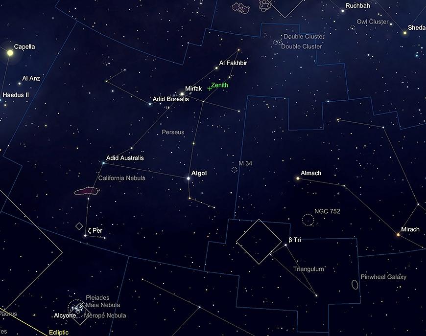 Perseus  und Triangulum.