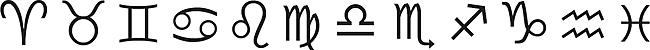 Symbole der Tierkreiszeichen