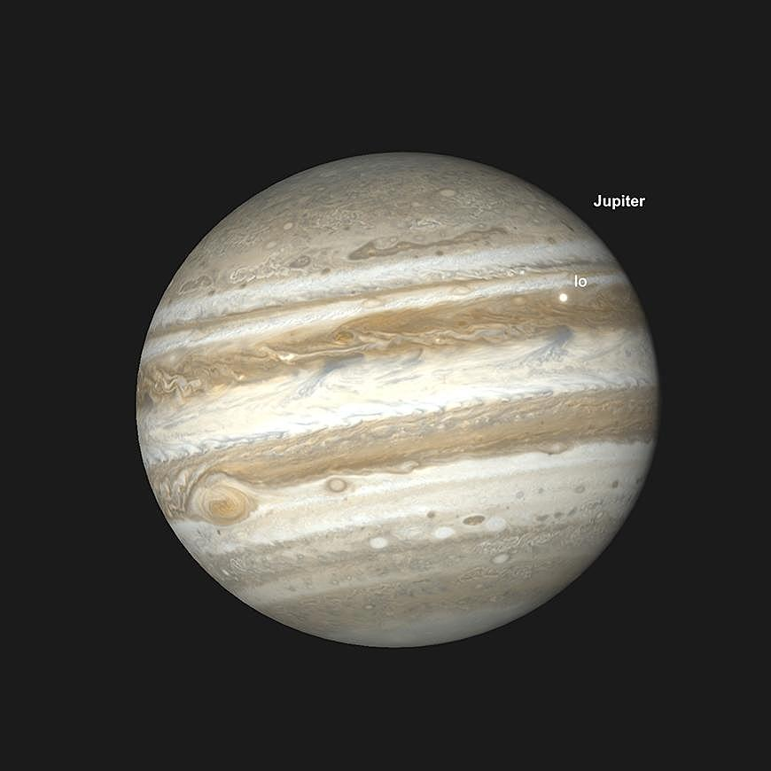 Jupiters GRF und Io Transit, 6.30 am GMT, 24. February.