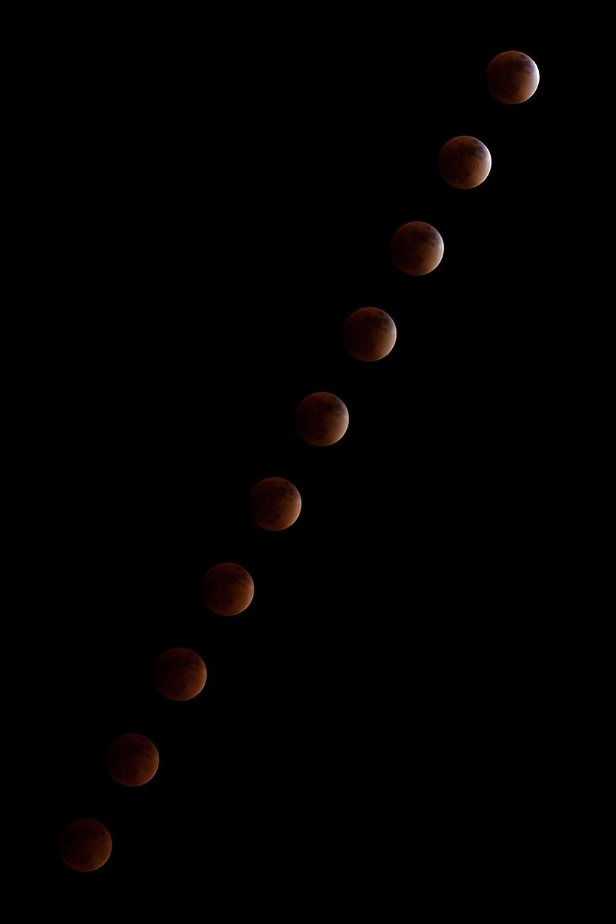 Montage des Mondes während der gesamten Umbralphase