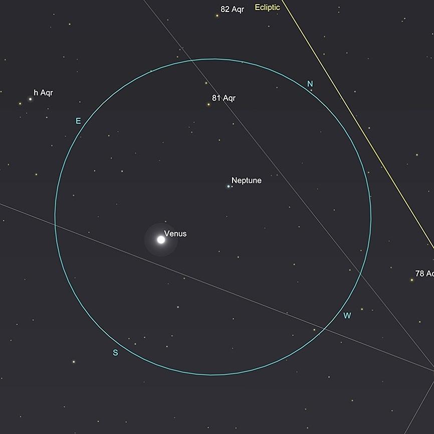 Neptune et Vénus, 21 février