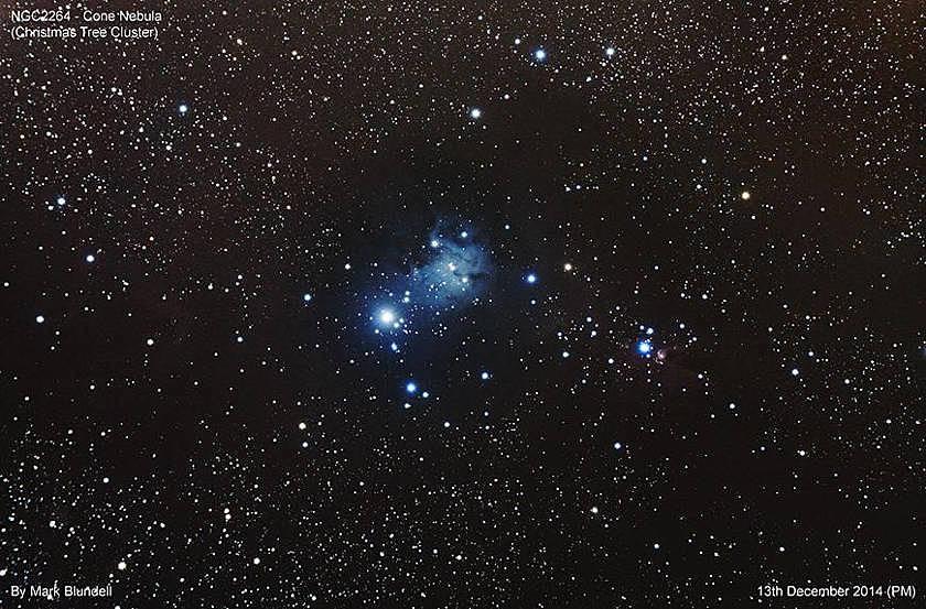 Der Konusnebel und Christbaum Sternhaufen