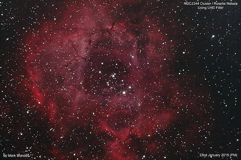 Der Rosetten Nebel und Sternhaufen