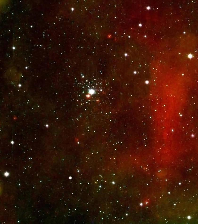 NGC2362 und die Umgebung um Tau Canis Majoris