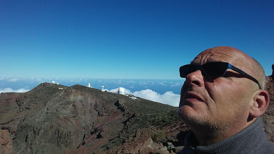 Roque de los Muchachos, über 2400 Meter hoch.